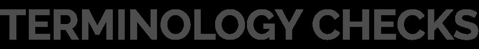Headline_TerminologyChecks
