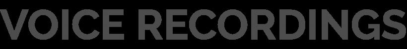 Headline_Voice_recordings